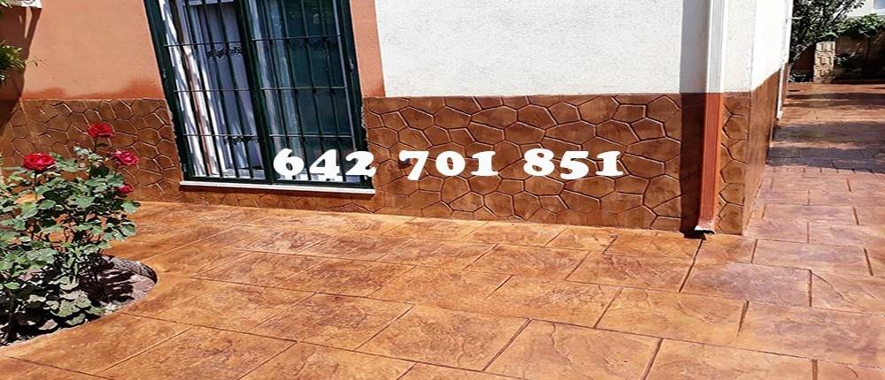 Hormigón impreso en Valdeverdeja Toledo