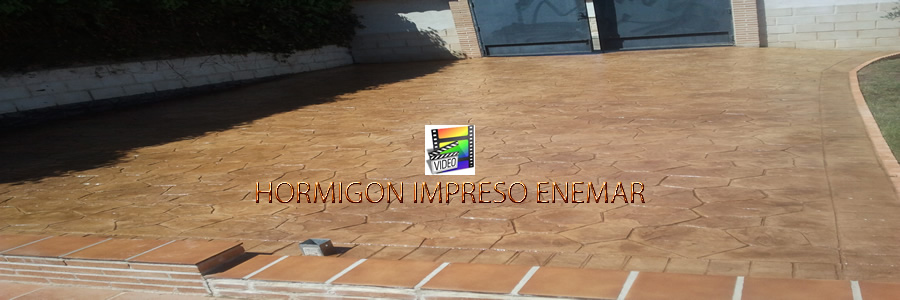Hormig n impreso en cobisa pavimentos de cemento pulido for Cemento impreso madrid