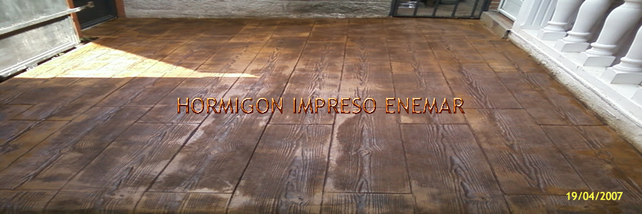 Hormigon impreso en escalonilla toledo for Hormigon impreso youtube