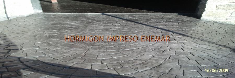 Hormigon impreso en Moheda de la Jara Toledo