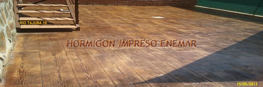 Hormigón impreso en Ontigola Toledo