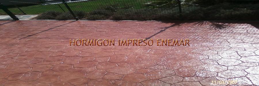 Hormigon impreso en Puerto Rey Toledo