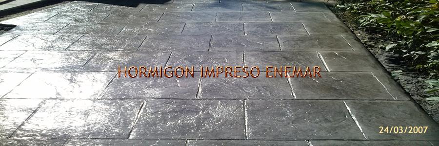 Hormigon impreso en Puerto de San Vicente Toledo