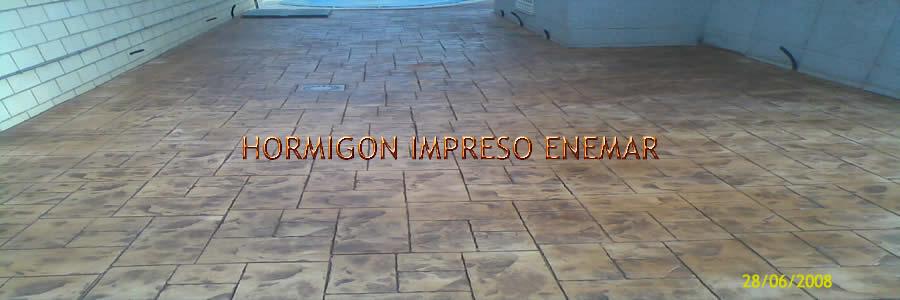 Hormigon impreso en Torrecilla de la Jara Toledo