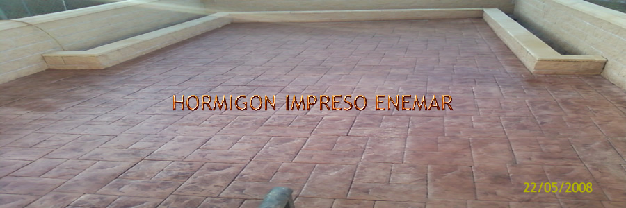 Hormigon impreso en Villarejo de Montalban