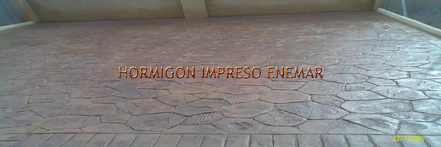 hormigon impreso en Hinojosa de San Vicente Toledo