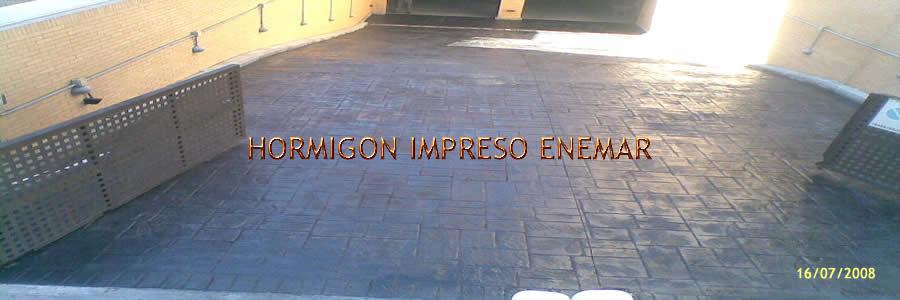 hormigon impreso en Manzaneque Toledo