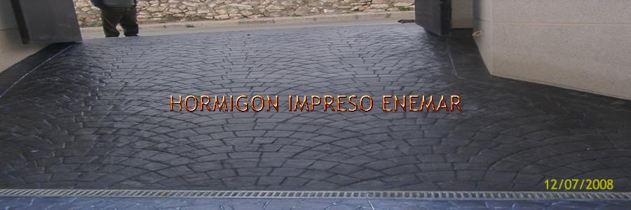 hormigon impreso en Mesegar de Tajo Toledo