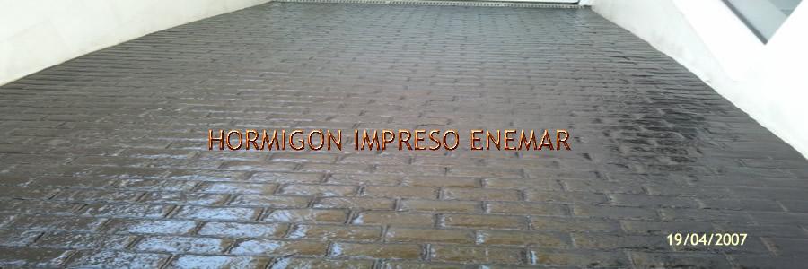 hormigon impreso en Minas de Santa Quiteria Toledo