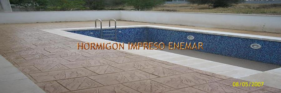 hormigon impreso en Sotillo de las Palomas Toledo