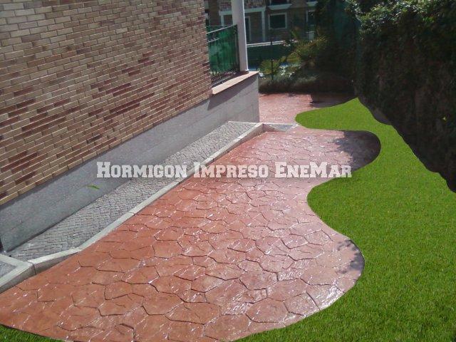 Hormigon impreso pavimentos y suelos de cemento y pulido for Suelo cemento impreso